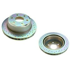 GMC Sierra 1500 C3 Tahoe Rear Brake Disc Set Cross Drilled Brembo RD00047