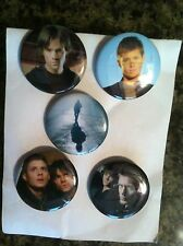 Jared Padalecki Jensen Ackles Supernatural tv series buttons/pins set of 5