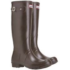 NEW Hunter Original Tall Rain Boot Brown Chocolate  4 M   5 F   35 / 36 EU