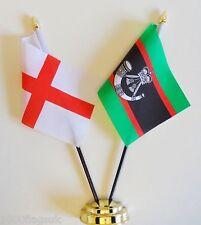 England & Gewehre Regiment Doppel Freundschaft Tisch Flagge Set