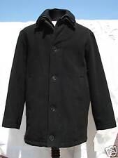 New Calvin Klein Cashmere Sz36 Black Pea Double Coat Style Classic Car Jacket