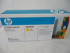 New Genuine HP Q6002A Yellow Toner Cartridge Laserjet 1600 2600 2605
