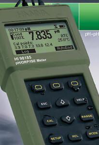 Hanna Instruments HI-98185 Waterproof pH/ORP/ISE Meter & Accessories