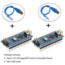 2pcs Nano V3.0,Atmega328P Microcontroller Board Nano Board Ch340G Chip Arduino
