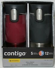 Contigo Autoseal Stainless Steel Spill-Proof Travel Mug 16oz Red / Gray - 2 Pack