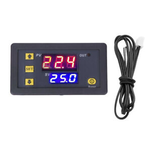 Electronic Thermostat Digital LED Heating Cooling Temperature Controller Panel