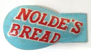 older NOLDE'S BREAD advertising premium tin clicker cricket MADE USA a2