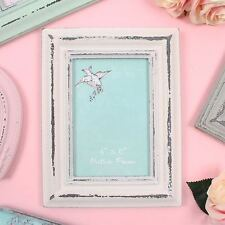 Rustic White Distressed Shabby Chic 4 x 6 Freestanding Photo Frame 77216