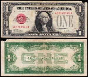 *SCARCE* 1928 $1 RED SEAL United States Note! FREE SHIPPING! A00748946A