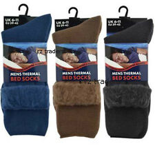 2 Mens Lounge Socks Thick Warm Cosy Feet Brushed Thermal Fleece Bed Sock UK 6-11