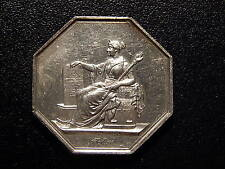 FRANCE JETON OCTAGON GADOURY JUSTICE SYSTEM SILVER MEDAL!   MM191TXXX