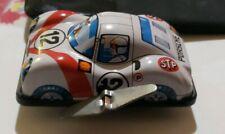 VINTAGE SANKO JAPAN Porsche STP RACING TIN BODIED WINED UP CAR