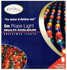 NEW LED Multi-coloured Chaser Rope Lights Multifunction 8m Christmas Decoration