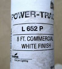 8' Cooper Halo PowerTrac for Commercial Single Circuit Track Light L652P White