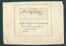 Alfred I, Prince of Windisch-Grätz signed page Austrian Army Field Marshall