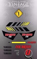 YAMAHA 1982 YT175 TRI-MOTO DECAL GRAPHIC KIT LIKE NOS