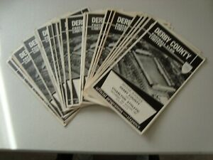 Full set of Derby County home programmes 1967-68 - 26 programmes in all