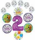 Scooby Doo 2nd Birthday Party Supplies Balloon Bouquet Decorations - Purple N...