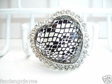 Ring  - Large Diamante heart  effect - Costume Jewellery