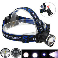 Zoomable XM-L T6 LED 3-Modes Headlamp Caving Head Torch Lamp Flashlight 3x AA