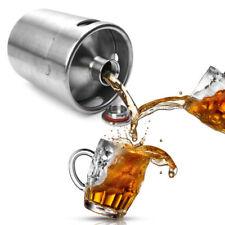 2L Homebrew Growler Beer Keg Stainless Steel Self Beer Brewing Bar Making Tool