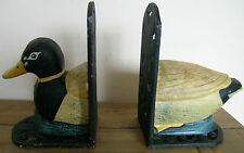 CAST IRON DUCK BOOKENDS
