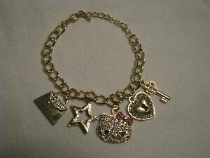 "NEW Cute 8"" Sparkily HELLO KITTY Charms Bracelet"