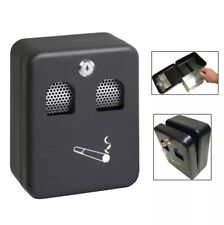 Wall Mounted Lockable Outdoor Ashtray Metal Coated Cigarette Ash Bin with Lock B