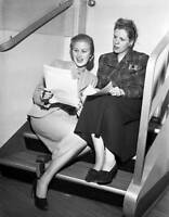 OLD CBS RADIO TV PHOTO Actress Joan Caulfield & Radio Personality Radie Harris 2