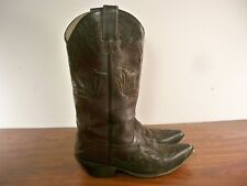 Justin 9758 Bent Rail Western Sangria Cowhide Bomber Leather Women's Boots 8.5 B