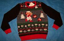 Size (8) Boys  Ugly Christmas Sweater Jumping Beans Super Mario Bros. Nintendo
