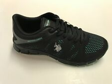 U.S. Polo Assn. Cara -E Women's Sneaker  S-7.5  Black/Mint
