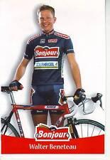 CYCLISME carte cycliste WALTER BENETEAU  équipe  BONJOUR.2000
