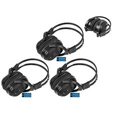3 New Headphones Headsets DVD Fits Chrysler Dodge Jeep Foldable IR-601B
