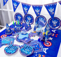 CAPTAIN AMERICA Birthday Party Supplies Bag Tableware Party Decorations