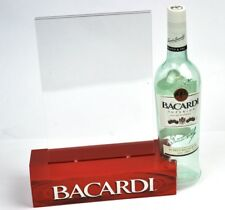 Cooler Bacardi Rum USA Tischaufsteller mit Flasche Menü Halter Table Tent