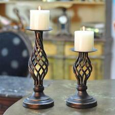 Free Standing Candlesticks Metal Pillar Romantic Home Decor Candle Candle Holder