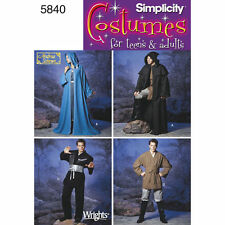 Simplicity SEWING PATTERN 5840 Misses/Mens/Teen Boys Costume Tunic & Robe  XS-XL