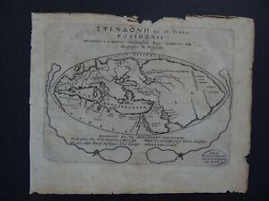 1628 BERTIUS  Atlas TAVERNIER map - Posidonius Ancient World Sling map POSIDONII