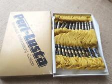 Vintage BOX 24 SKEIN PERI LUSTA embroidery cotton thread 368 MUSTARD Gold beige