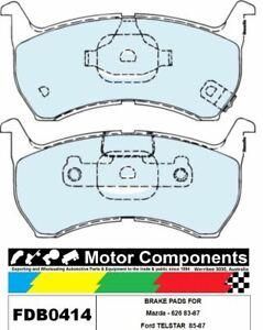 BRAKE PADS FDB0414M TO SUIT Mazda - 626 83-87, Ford TELSTAR  85-87