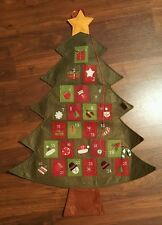 Christmas Tree Advent Calendar Felt Fabric Wall Hanging Christmas Countdown 36""