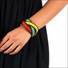 Rasta Breaded Band Bracelet Wrist Cool Runnings Cuff Jah Reggae Ras Marley IRIE