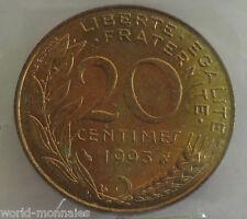 20 centimes marianne 1993 : SPL : pièce de monnaie française