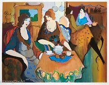 "Itzchak Tarkay Limited Edition Signed Serigraph ""Women Having Tea"" FINE & BEAUTY"