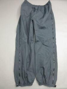GORE-TEX SIZE XL/36 MENS BLACK ATHLETIC NYLON OUTDOOR WATERPROOF RAIN PANTS T576