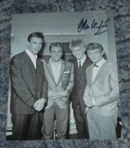 JOHN LEYTON-  - 10x8  PHOTO SIGNED -With Marty Wilde, Joe Brown, Billy Fury  (2)