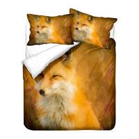Novelty Gift Animal Fox Adult Kids Bedding Duvet Quilt Cover Set Gift Pillowcase