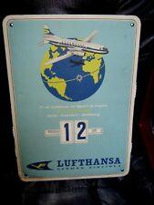 ANCIEN CALENDRIER PUBLICITAIRE 1ER VOL LUFTHANSA GERMAN AIRLINED LE 17.05.1955