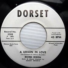 RICHIE DIXON lesson in love / you haven't lived 1961 TEEN Popcorn 45 e4877